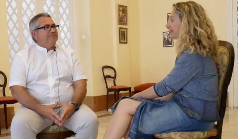 Con Eduardo Blesa